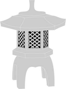 Japanese garden series stone lantern basket 2