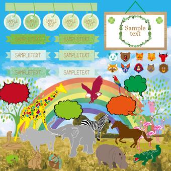 Zoo illustration set