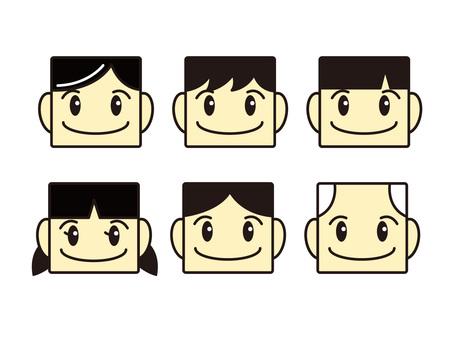 Square face 1