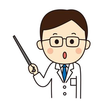Male doctor explaining