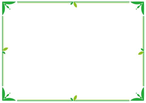 กรอบใบ _ ตกแต่ง _ เขียว