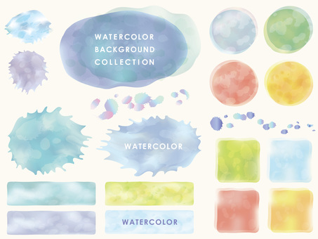 Water color background set