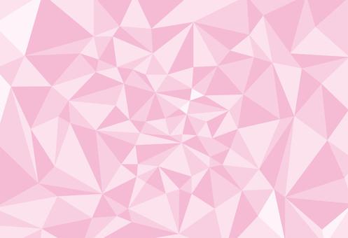 Spring background material Sakuramo color polygon style