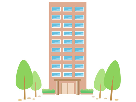 70111. Tall building and tree