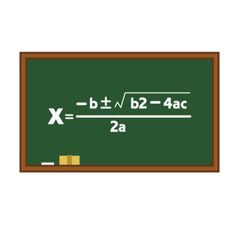 Equation written on blackboard