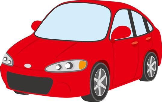 Auto (Sedan A) red