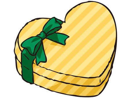Heart's present box (stripe)