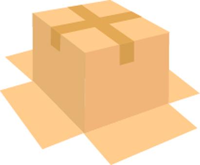 Corrugated box back side