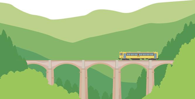 Railway landscape 6 brick arch bridge
