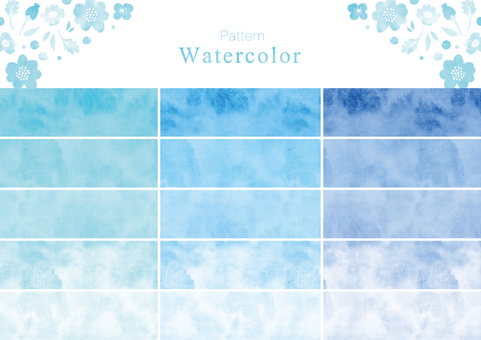 Watercolor pattern swatch part 3 blue