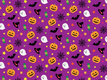 Halloween seamless pattern _ purple