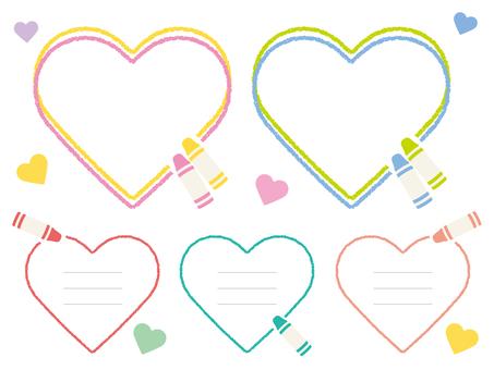Heart's crayon frame