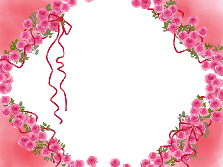 Romantic rose frame