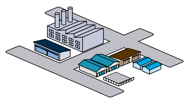 Street material: factory and warehouse