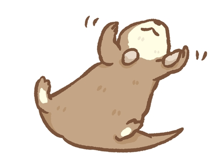 Otters playing with your favorite pebbles