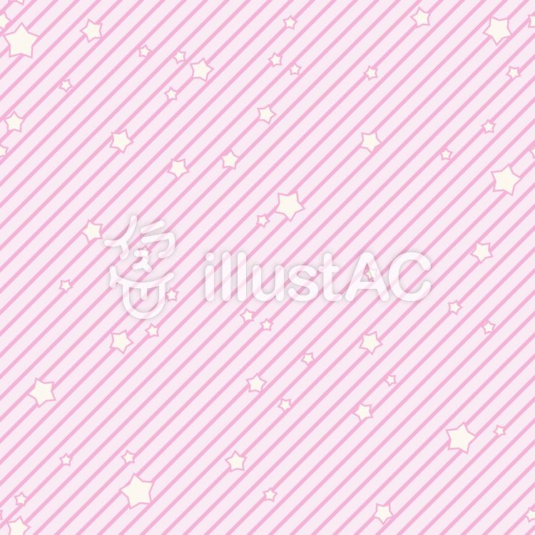 背景-星とストライプ・ピンクのイラスト