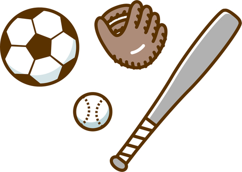 Soccer ball and baseball equipment