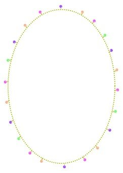 Round frame of beads
