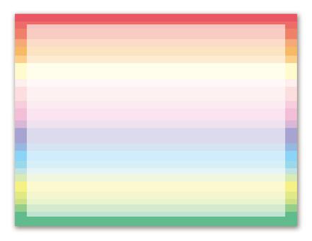 Rainbow color decorative frame