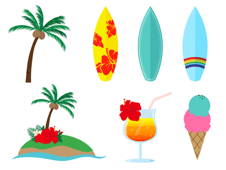 Simple summer motif various 3