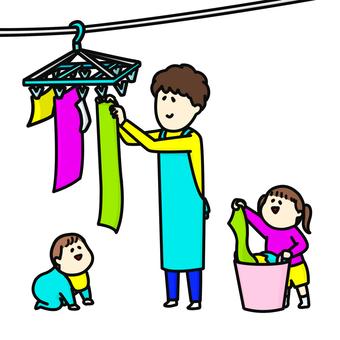 丈夫洗衣服