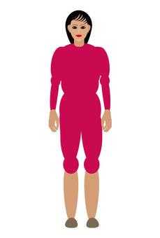 People pink clothes ladies