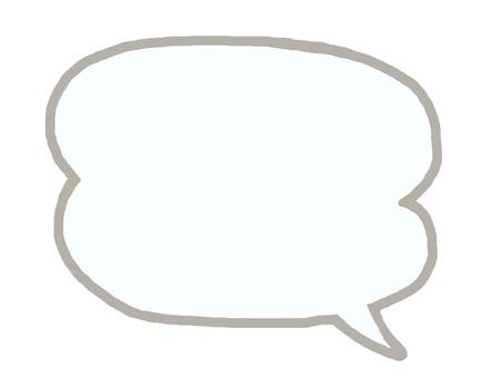 Speech bubble, simple.