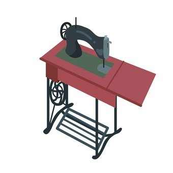 Stepping sewing machine