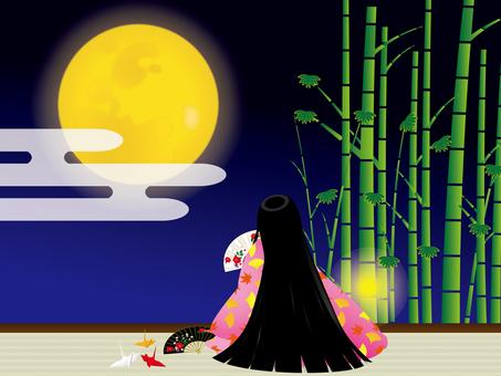 Tsukimi and bamboo
