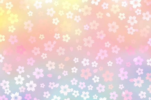 Cherry pastel gradation background material