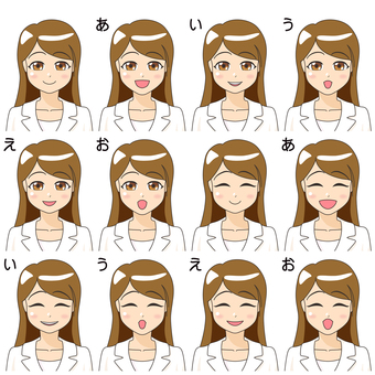 20's female smile