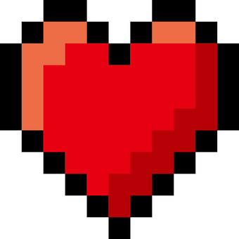 Heart _ pixel_color _ color red