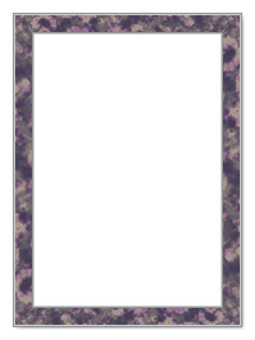 Picture frame _ marble style - silver