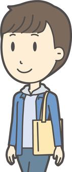 Junior high school boy's plain clothes -370-bust