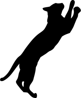 Cat's silhouette (standing)
