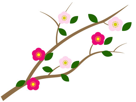 Plum branch ver2 vector