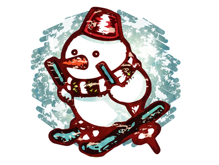Ski snowman