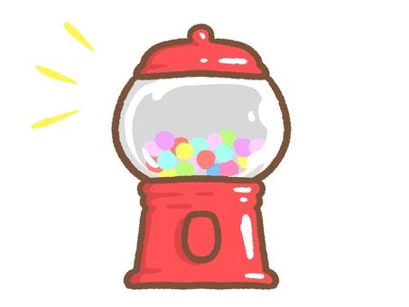 Gumball machine with gumball