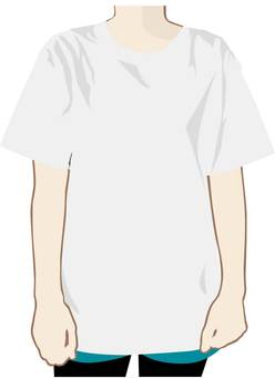 A woman in T-shirt