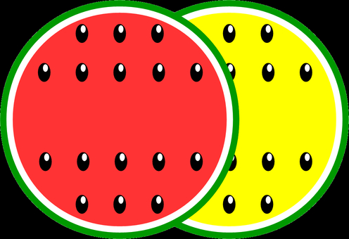 Two types of watermelon