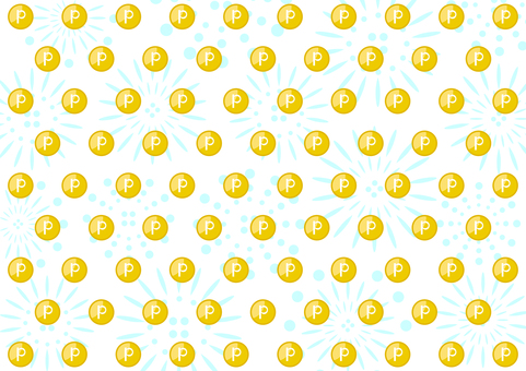 Point coin dot fireworks background
