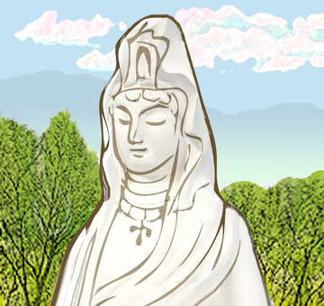 Kannon image color comps in forest
