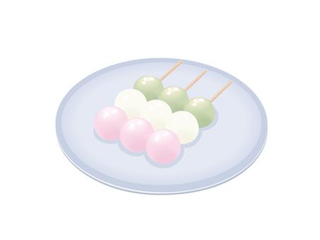 Three color dumplings