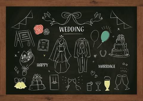 Wedding wedding choke blackboard