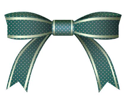 Green polka dot ribbon