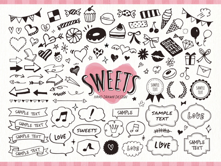 Sweet icon and decoration · frame set