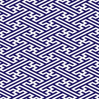 Japanese pattern collapsed Saji type