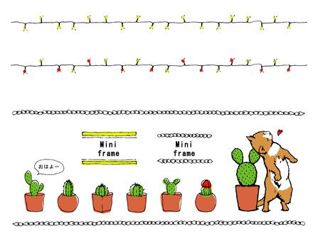 猫とサボテン/飾り罫 詰め合わせ