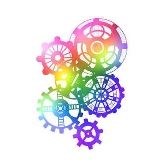 Gear rainbow color