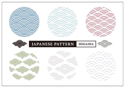 수화 무늬 패턴 칭하이 파도 _ 컬러